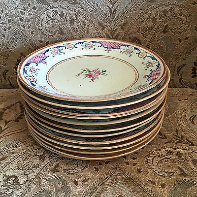 Lovely Set of 12 Chinese Export Plates c. 1790