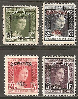 LUXEMBOURG 1924 Caritas Set of 4 SG 227-230 MH/*