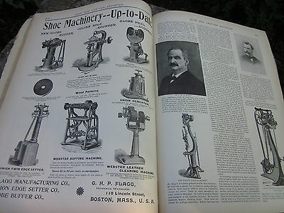 Vintage 1898 Shoe Factory Cast Iron Foot Powered Leather Tool Trade Mag Mens
