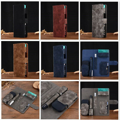 For iQOS Electronic Cigarette Kit Filp Leather Card Wallet Case Box Pouch Bag