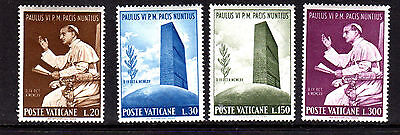 VATICAN CITY #416-419  1965  POPE PAUL VI  MINT  VF NH  O.G  a