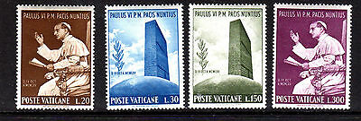 VATICAN CITY #416-419  1965  POPE PAUL VI  MINT  VF NH  O.G  b