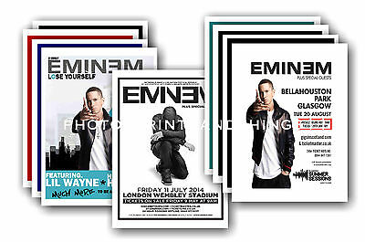 EMINEM  - 10 promotional posters - collectable postcard set # 1