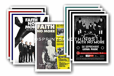 FAITH NO MORE  - 10 promotional posters - collectable postcard set # 3