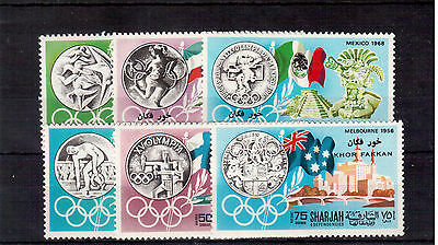 Sharjah Emirates Set 6 Stamps Mint Nh, Olympics Games !!