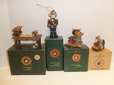 Lot 4 Boyds Bears & Friends Bearstone Collection Joey & Alice Mouseking Noahs Tb