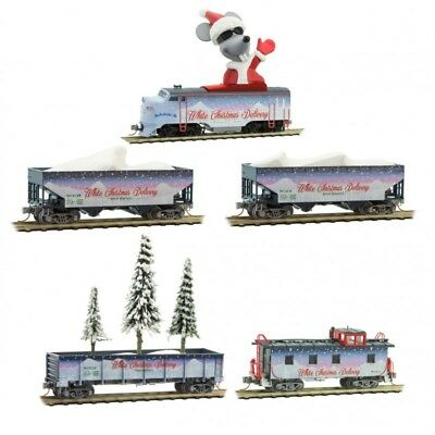 MicroTrains 99321280 N White Christmas Delivery Train Set