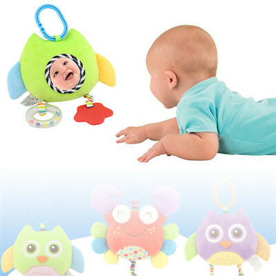 Baby Infant Rattles Plush Animal Stroller Music Hanging Bell Toys Doll Soft Bed