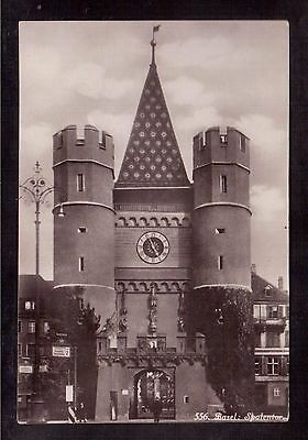 Basel Switzerland Vintage Mint Postcard, The Gate Of Spalen !!