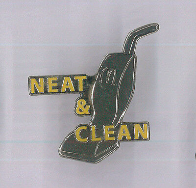 McDonalds restaurant pin - Neat and Clean - fast food collector badge