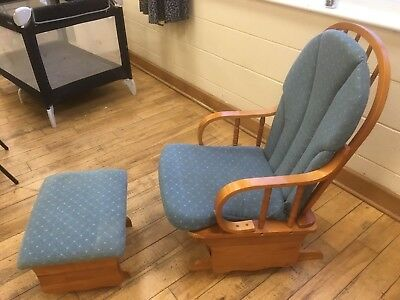 Nursing Chair and Stool - glider / recliner / rocking chair footrest for nursery