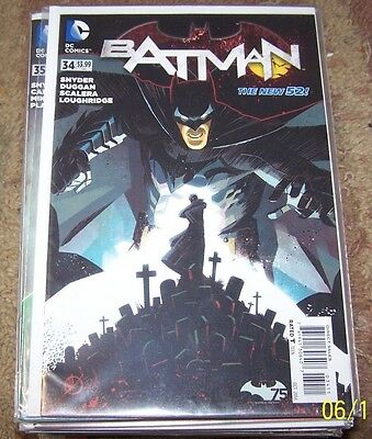 batman comic # 34 oct 2014 dc new 52 scott snyder  JIM GORDON GOTHAM
