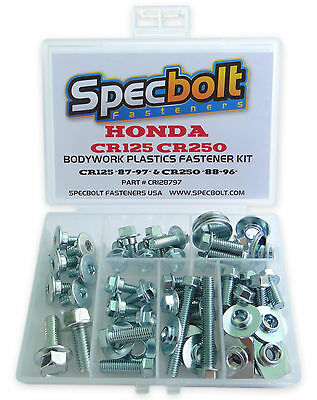 Plastics Bolt Kit Honda CR125 1987-1997, CR250 1988-1996 Full Body Kit CR-128797