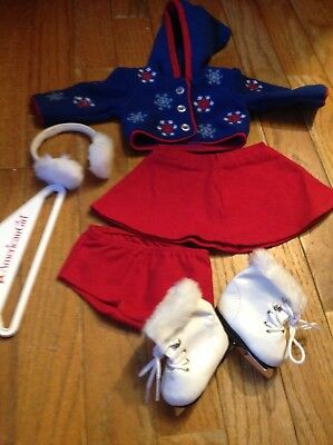 American Girl Molly's Winter Outfit and Skates