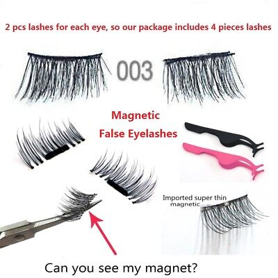 4PCS 3D Magnetic False Eyelashes No GLUE Thinner Magnet and Strong Magnetic Hot