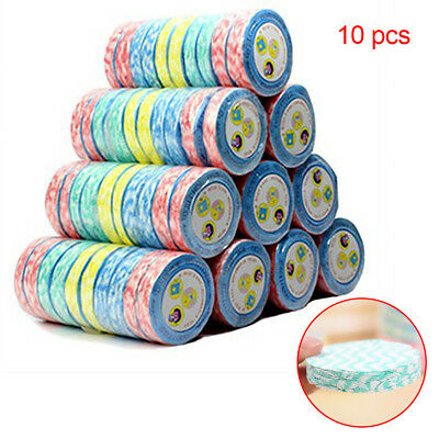 10x Magic Compressed Towel Reusable Travel Face Bath Drying Sport Washcloth HOT