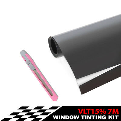 Window Tint Film Roll for Car Home Glass 76cm*7m 15% VLT + tinting tools kit