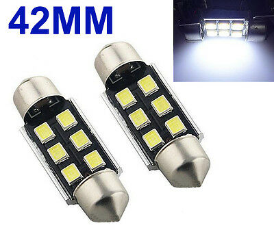 2x 42mm Sofitte Soffitte 8 SMD 3528 LED Weiss CANBUS Innenraum Lampe 12V DC