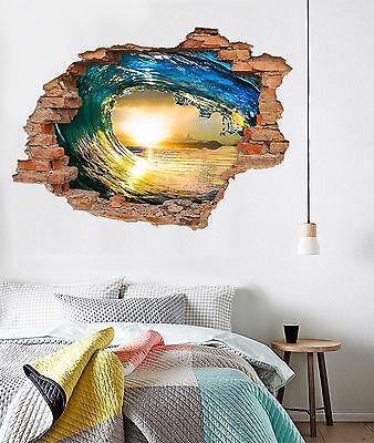 3D Rolling Wave 265 Wall Murals Wall Stickers Decal Breakthrough AJ WALLPAPER AU