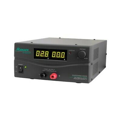 Ozstock Manson 40Amp 3-15V Dc Power Supply Digital Bench Top Dark Grey