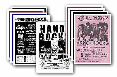 HANOI ROCKS  - 10 promotional posters - collectable postcard set # 1
