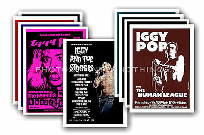 IGGY POP  - 10 promotional posters - collectable postcard set # 1