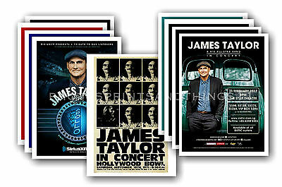 JAMES TAYLOR  - 10 promotional posters - collectable postcard set # 1