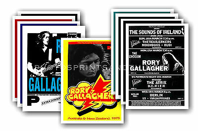 RORY GALLAGHER  - 10 promotional posters - collectable postcard set # 2