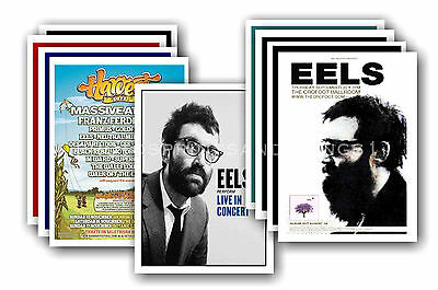 EELS  - 10 promotional posters - collectable postcard set # 1