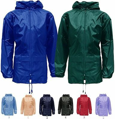 98ab2d2f9a9b8 New Unisex Mens Womens Kids Girls Boys Plus Size Kagool Lightweight Rain  Jacket