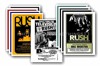 RUSH  - 10 promotional posters - collectable postcard set # 1