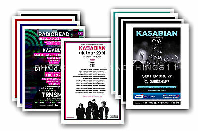 KASABIAN  - 10 promotional posters - collectable postcard set # 1