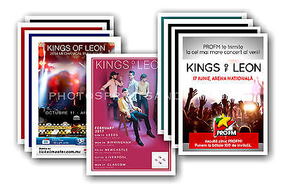 KINGS OF LEON  - 10 promotional posters - collectable postcard set # 1