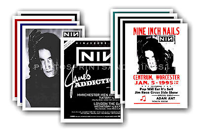 NINE INCH NAILS  - 10 promotional posters - collectable postcard set # 3