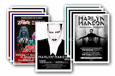 MARILYN MANSON  - 10 promotional posters - collectable postcard set # 1