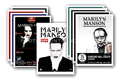 MARILYN MANSON  - 10 promotional posters - collectable postcard set # 2