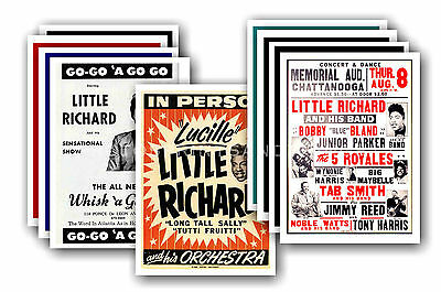 LITTLE RICHARD  - 10 promotional posters - collectable postcard set # 1