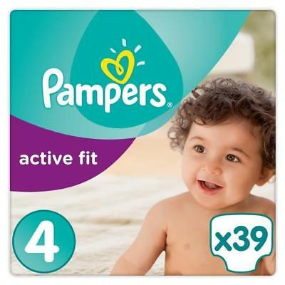 PAMPERS Active Fit Taille 4 - 8 a 16kg - 39 couches - Format pack Géant