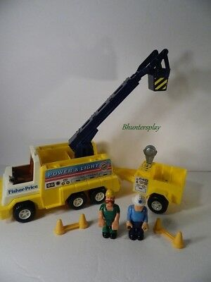 Vintage 1983 Husky Helpers Power & Light Utility Truck with Workers #339