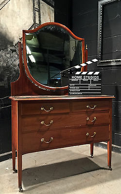 Can Deliver Edwardian Mahogany Dressing Table Chest Shabby Chic Project Antique