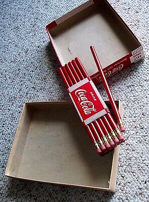 Lot of 13 Vintage 1950s/60s Drink COCA COLA Refreshing RED Coke Lead PENCILS
