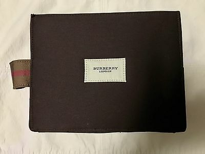 Burberry Travel / Cosmetic Bag - Traditional Brown with Plaid Strap
