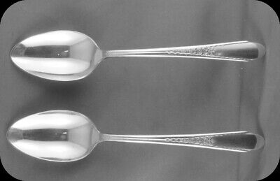 Rogers & Bro Stainless Gardenia Dinner Spoon (TWO)