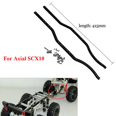 2pcs Stainless Steel Chassis Frame Rails Set for Axial SCX10 1/10 RC Crawler