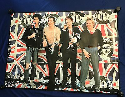 vintage GIANT 1990's Sex Pistols BAND PIC SUBWAY POSTER Pyramid IMPORT 38x54in