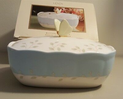 Lenox BUTTERFLY MEADOW Vanity Covered Box Butterfly Bee 791713 In Box