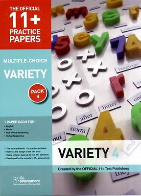 11+ Practice Papers: Multiple-choice Variety Pack 4: Contains 4 Tests - Maths/ .