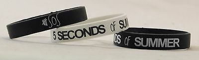 SOS Silicone Wristbands Ashton calum luke White Black Seconds