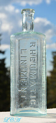 Dr Kennedy's RHEUMATIC LINIMENT scarce EMBOSSED antique BOTTLE