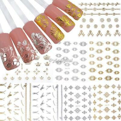 12 Sheets Pretty 3D Flower Nail Stickers Manicure Decals Nail Art DIY 35DI